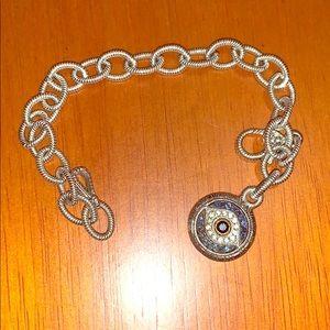 Judith ripka lucky  gemstone evil eye bracelet